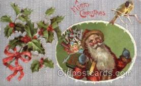 hol002157 - Christmas Santa Claus Postcard Postcards