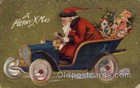hol002169 - Christmas Santa Claus Postcard Postcards