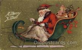 hol002171 - Christmas Santa Claus Postcard Postcards