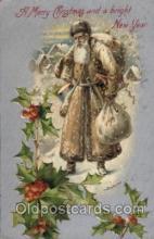 hol002178 - Christmas Santa Claus Postcard Postcards