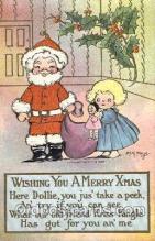 hol002181 - Christmas Santa Claus Postcard Postcards