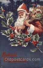 hol002189 - Christmas Santa Claus Postcard Postcards