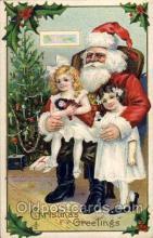 hol002195 - Christmas Santa Claus Postcard Postcards