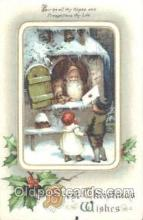 hol002220 - Unsigned Clapsaddle, Santa Claus Postcard Postcards