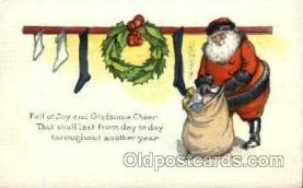 hol002227 - Christmas, Santa Claus Postcard Postcards