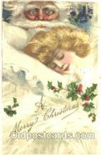 hol002268 - Artist Schmucker, Santa Claus, Christmas, Postcard Postcards