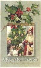 hol002332 - Santa Claus Christmas Postcard Postcards