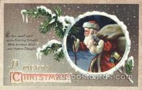 hol002346 - Santa Claus Christmas Postcard Postcards