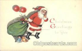 hol002348 - Santa Claus Christmas Postcard Postcards