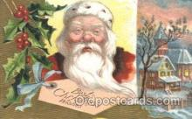 hol002351 - Santa Claus Christmas Postcard Postcards