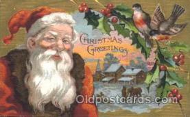 hol002354 - Santa Claus Christmas Postcard Postcards