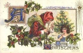 hol002359 - Santa Claus Christmas Postcard Postcards
