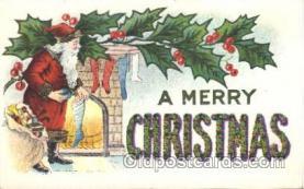 hol002362 - Santa Claus Christmas Postcard Postcards