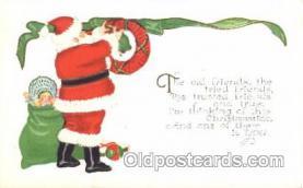 hol002365 - Santa Claus Christmas Postcard Postcards