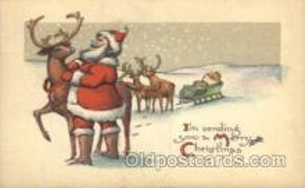 hol002366 - Santa Claus Christmas Postcard Postcards