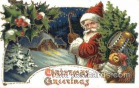 hol002371 - Santa Claus Christmas Postcard Postcards