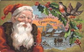 hol002372 - Santa Claus Christmas Postcard Postcards