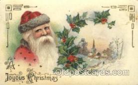 hol002380 - Santa Claus Christmas Postcard Postcards