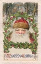 hol002502 - Christmas, Santa Claus Winch Folder Postcard Postcards