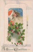 hol002504 - Christmas, Santa Claus Winch Folder Postcard Postcards