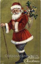 hol002519 - Santa Claus Christmas Postcard Postcards