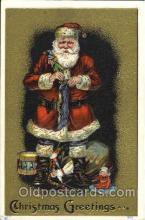 hol002543 - Santa Claus Christmas Postcard Postcards