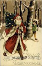 hol002545 - Santa Claus Christmas Postcard Postcards
