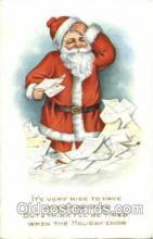 hol002559 - Santa Claus Christmas Postcard Postcards