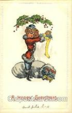 hol002564 - Santa Claus Christmas Postcard Postcards