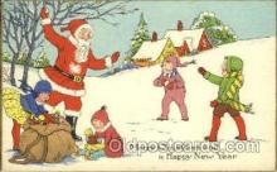 hol002578 - Santa Claus Christmas Postcard Postcards