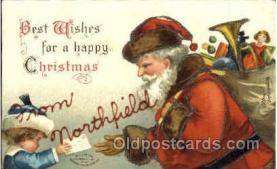 hol002587 - Santa Claus Christmas Postcard Postcards