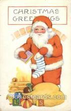 hol002686 - Santa Claus, Christmas, Xmas, Postcard Postcards