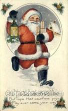 hol002840 - Whitney Made Santa Claus Holiday Christmas Post Cards Postcard