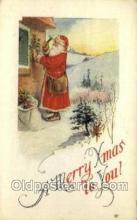 hol002858 - Santa Claus Holiday Christmas Post Cards Postcard