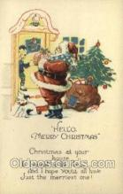 hol002865 - Santa Claus Holiday Christmas Post Cards Postcard