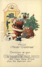 hol002865 - Santa Claus Holiday Christmas Post Cards Postcard
