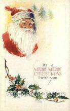 hol002866 - Santa Claus Holiday Christmas Post Cards Postcard