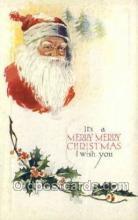 hol002866 - Santa Claus Holiday Christmas Post Cards Postcard