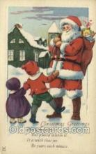 hol002880 - Santa Claus Holiday Christmas Post Cards Postcard