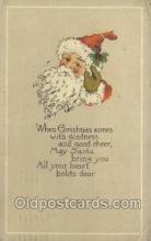 hol002883 - The Pink Of Perfection Publisher Santa Claus Holiday Christmas Post Cards Postcard