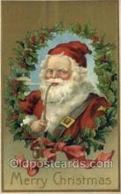 hol002890 - Santa Claus Holiday Christmas Post Cards Postcard