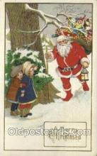 hol002896 - Santa Claus Holiday Christmas Post Cards Postcard