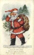 hol002903 - Whitney Made Santa Claus Holiday Christmas Post Cards Postcard