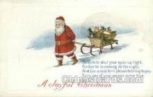 hol002919 - Santa Claus, Christmas, Old Vintage Antique Postcard Post Card