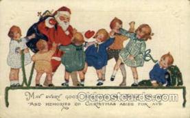 hol002921 - Santa Claus, Christmas, Old Vintage Antique Postcard Post Card