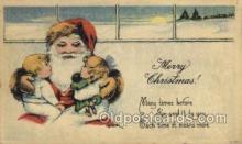 hol002925 - Santa Claus, Christmas, Old Vintage Antique Postcard Post Card