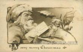 hol002926 - Santa Claus, Christmas, Old Vintage Antique Postcard Post Card