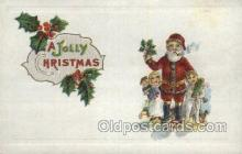 hol002929 - Santa Claus, Christmas, Old Vintage Antique Postcard Post Card
