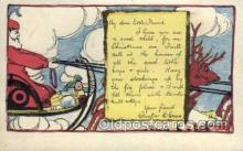hol002930 - Santa Claus, Christmas, Old Vintage Antique Postcard Post Card