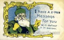 hol002933 - Santa Claus, Christmas, Old Vintage Antique Postcard Post Card